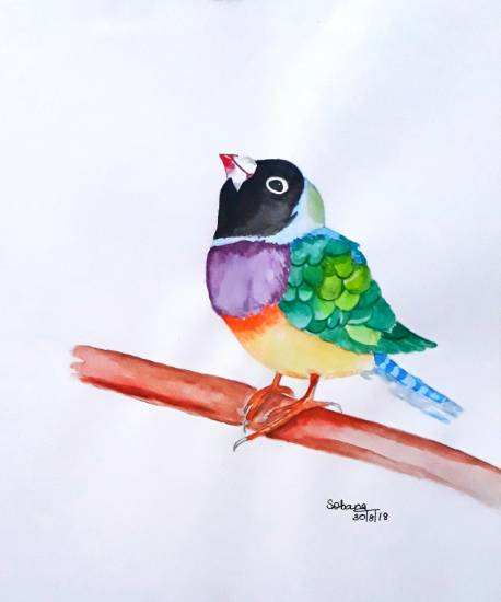 painting by Sobana Nagarajan - Bird