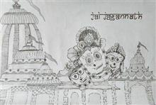 Painting  by Vattam Rajesh - Jai Jagannath