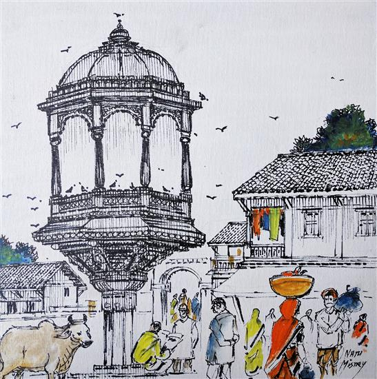 Untitled - 83, painting by Natubhai Mistry