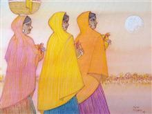 Untitled - 90, Painting by Natubhai Mistry