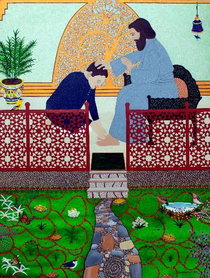 Divine Grace, painting by Pratiksha Apurv