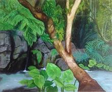 Sylvan, painting by Girijaa Upadhyay
