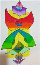Painting  by Mehek Gaurav Maini - Abstract Symmetry