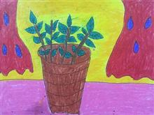 Painting  by Aabha Ashutosh Karle - Plant in pot