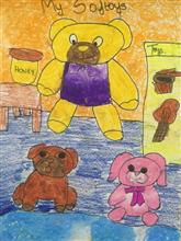 Painting  by Aabha Ashutosh Karle - My Soft toys