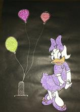 Painting  by Arushi Deepak Nisal - Minnie mouse