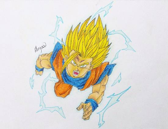 Painting  by Aryaa Anand Awade - Dragon Ball Z Buu Saga - 3