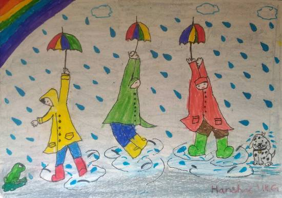 Painting  by Hanshal Banawar - Rainy season
