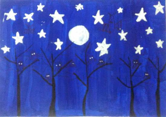 Painting  by Hanshal Banawar - Night Sky