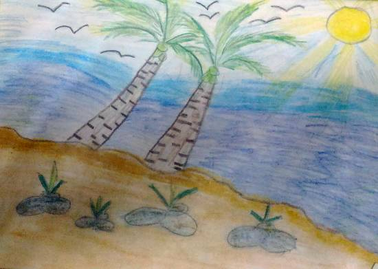 Painting  by Hanshal Banawar - Coastal Nature