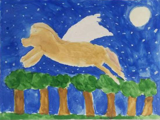 Painting  by Harshvardhan Kumar - Flying Horse