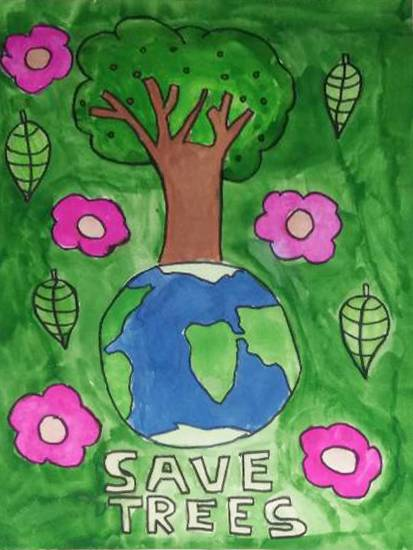 Painting  by Harshvardhan Kumar - Save Trees