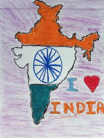 Painting  by Harshvardhan Kumar - I love my India