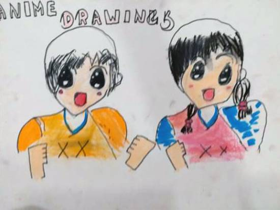 Anime drawings, painting by Aashvi Ashutosh Karle