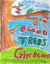 Painting  by Adeeb Singh - Donate Blood