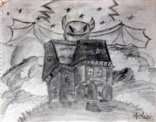Painting  by Adeeb Singh - Haunted House