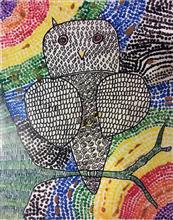 Painting  by Alika Hiren Parmar - The Owl