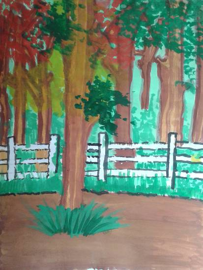 Painting  by Aayushi Amol Shirodkar - Trees