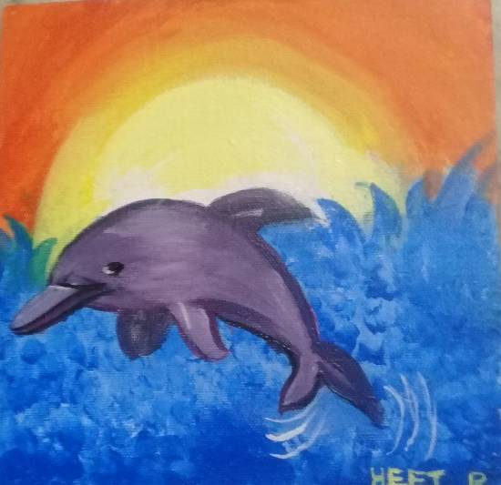 Painting  by Heet Bagrecha - Dolphin