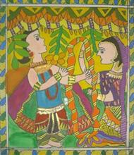 Painting  by Abha Prakash Pawar - Couple