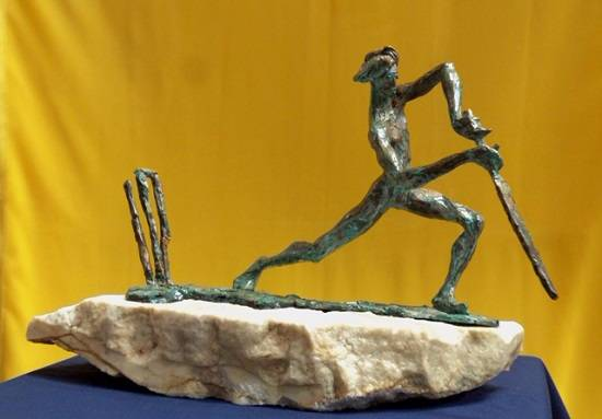 Clean - Bowled, Sculpture by Siddharth Sathe