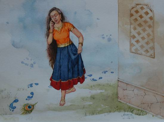 painting by Advait Kishor Nadavdekar - Foot Print