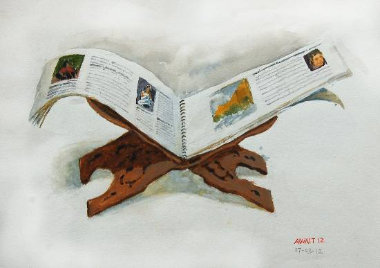 painting by Advait Kishor Nadavdekar - Open Book