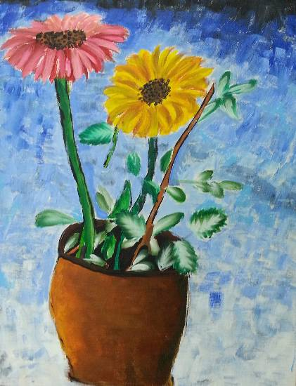 painting by Aishwarya Ramachandran - Flowers