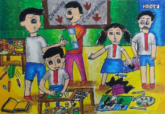 painting by Aishwarya Ramachandran - Drawing Competition