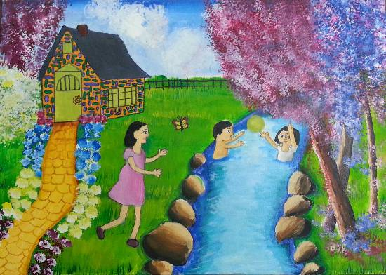 Painting  by Aishwarya Ramachandran - Children