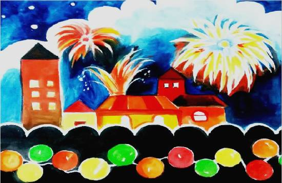 Painting  by Ananya Aloke - Celebrations