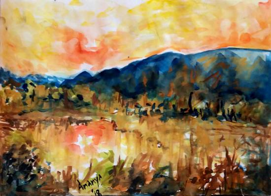 Painting  by Ananya Aloke - Sunset