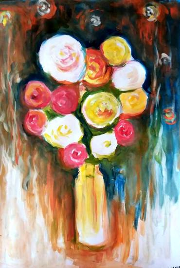 Painting  by Ananya Aloke - Flower vase
