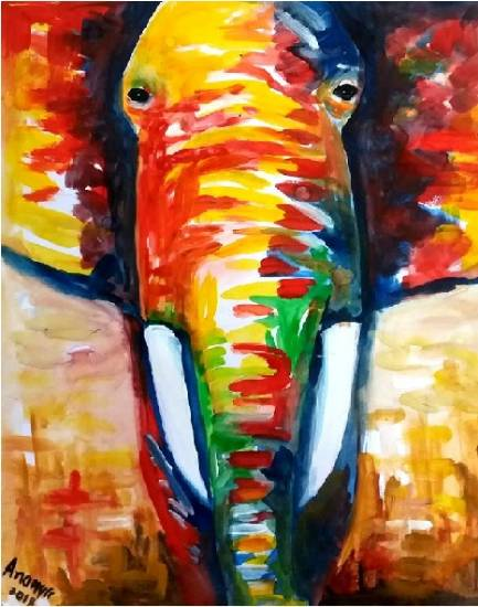 Painting  by Ananya Aloke - Elephant