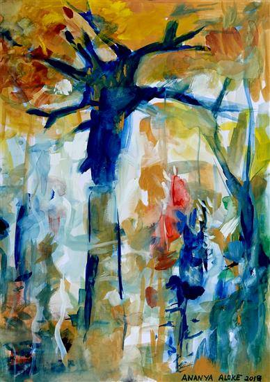 Painting  by Ananya Aloke - Urban Forest