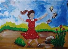 Painting  by Anaya Bhola - Girl