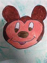 Painting  by Anaya Bhola - Micky mouse