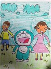 Painting  by Anaya Bhola - Doraemon