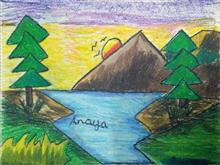 Painting  by Anaya Bhola - Nature