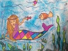 Painting  by Anaya Bhola - Mermaid