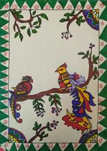 Painting  by Anaya Bhola - Madhubani - Birds