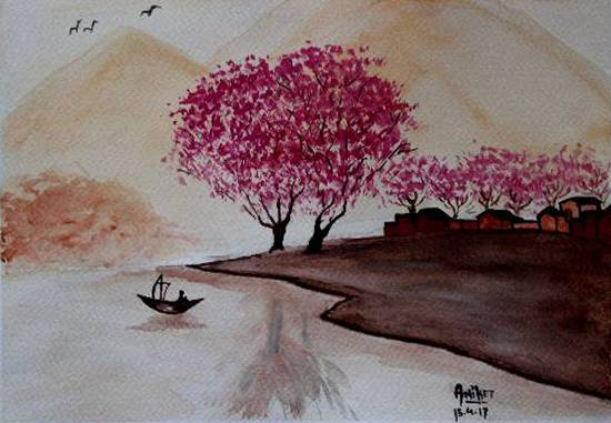 Painting  by Aniket Jena - Nature