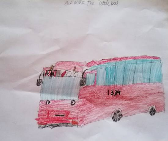 Painting  by Adarsh Sudheer Aleti - Tayo bus