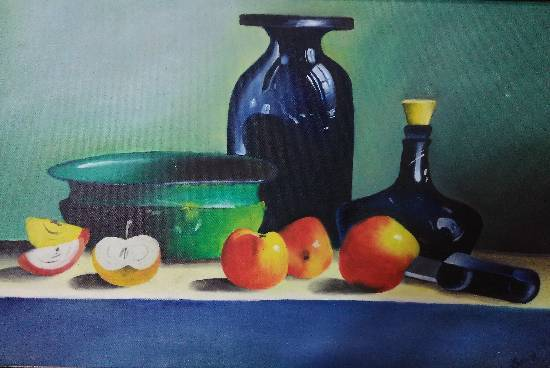 Painting  by Manas Chawla - Oil Still Life