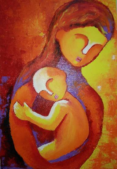 Painting  by Manas Chawla - Mother's Love