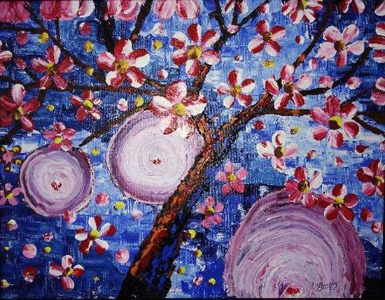 Painting  by Manas Chawla - Flowers in Spring