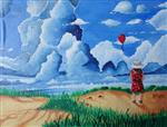 painting by Manas Chawla - Beautiful Clouds