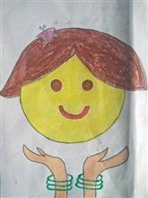 Painting  by Mahi Jadhav - Save girl child