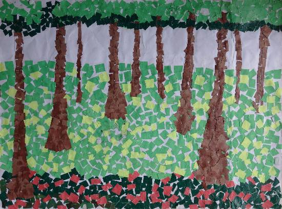 Painting  by Mahroonisha  - Tree Plantation