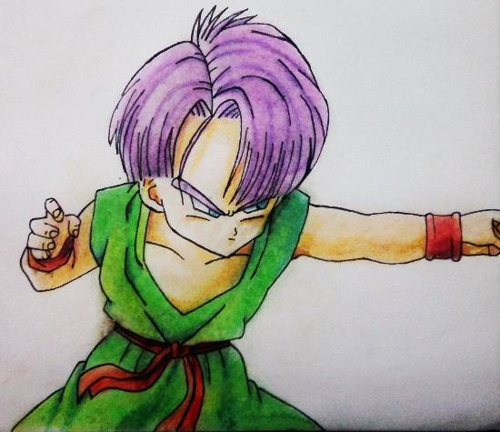painting by Pranav Tyagi - Trunks from dragon ball z